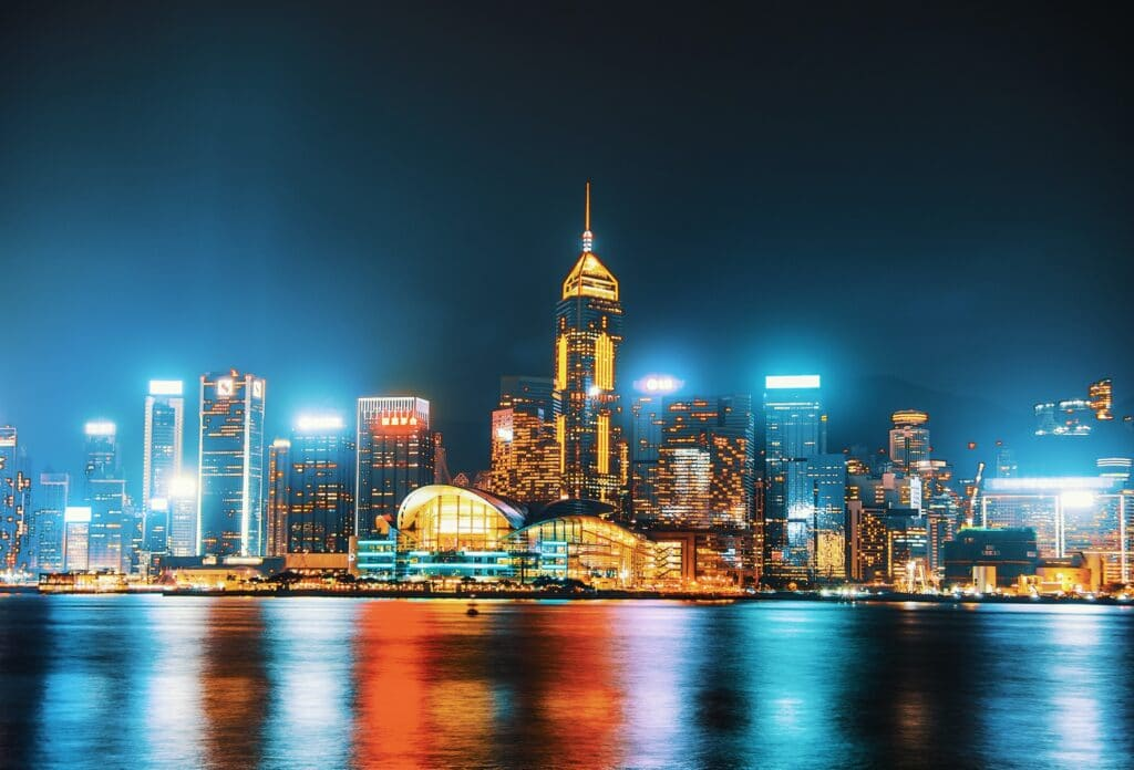 The History of the Hong Kong skyline