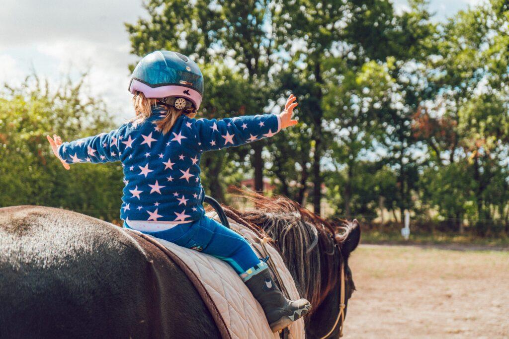 Horseback riding in Marmon Valley